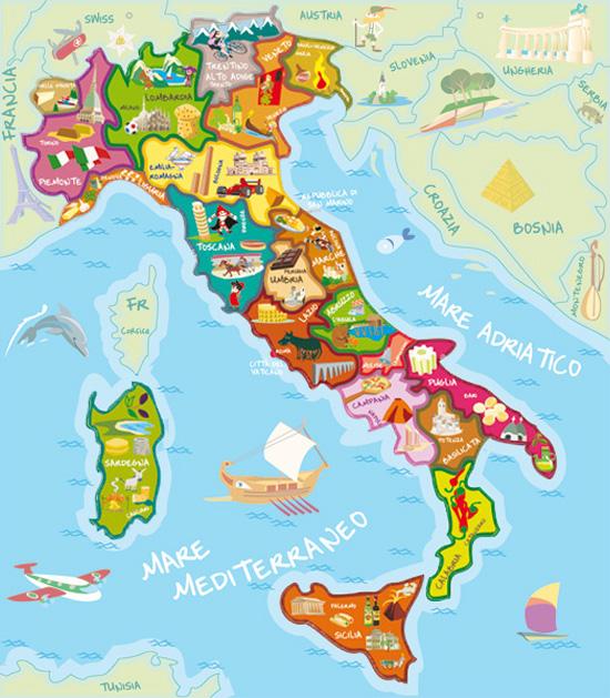 Pldoras de italiano las regiones de Italia  buenos das Roma