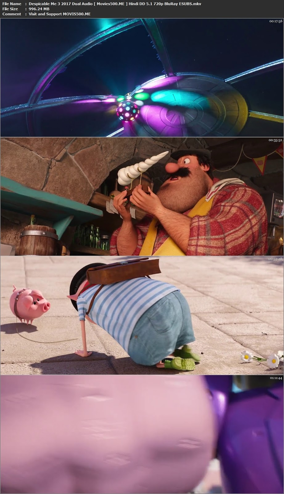 Despicable Me 3 2017 Dual Audio Hindi DD 5.1 720p BluRay ESUBS at movies500.site