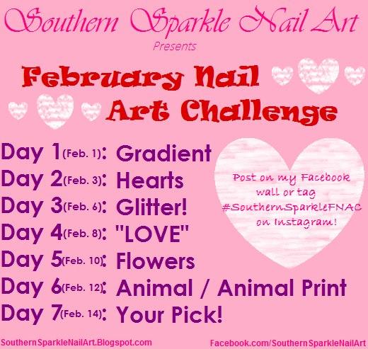 Nail Art February Challenge: A Little Polish: February Nail Art Challenge