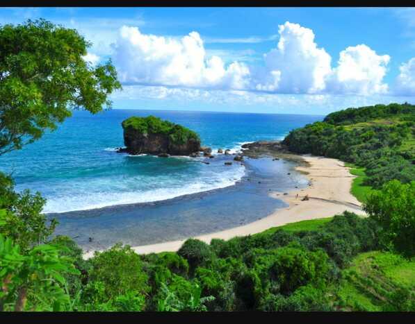 Wisata Alam Pantai Menganti Kebumen Wisata Terindah di Jawa Tengah