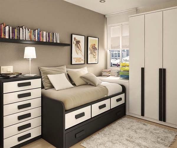 30 small bedroom storage ideas