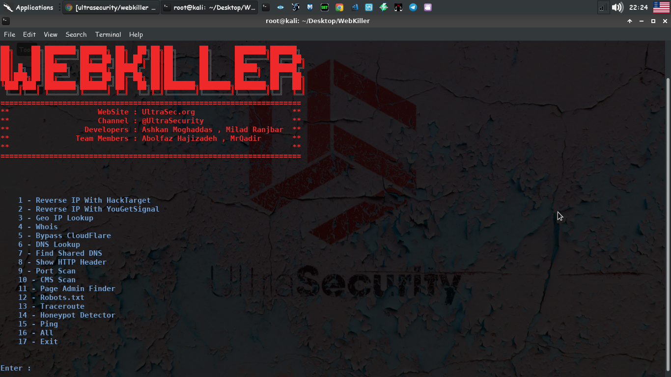 Webkiller - Tool Information Gathering Write By Python