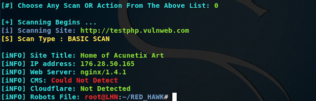 Red Hawk - Information Gathering & Vulnerability Scanner Tool