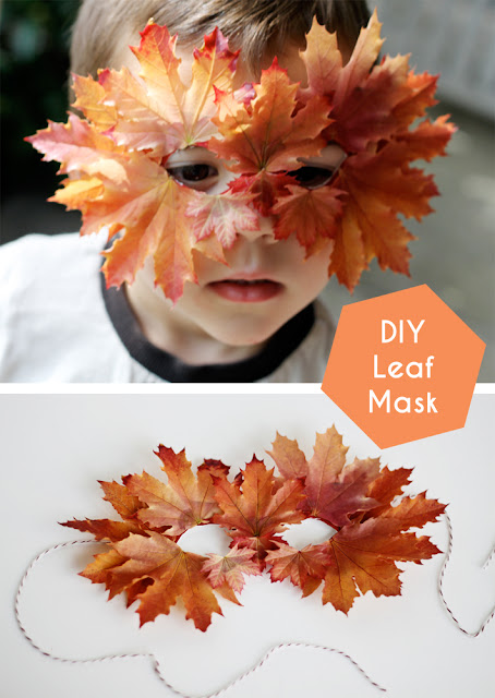 15 AWESOME Gratitude Filled THANKSGIVING DAY Ideas - LEAF MASK KIDS
