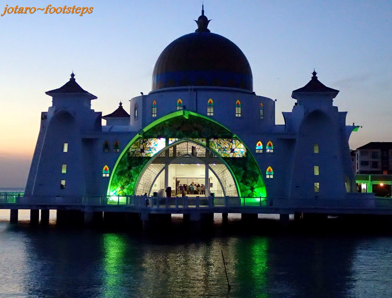 Footsteps Jotaro S Travels Gallery Masjid Selat Melaka