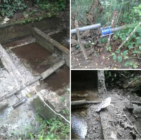 Desconocidos destrozan depósito de agua en Puentecito,Polo
