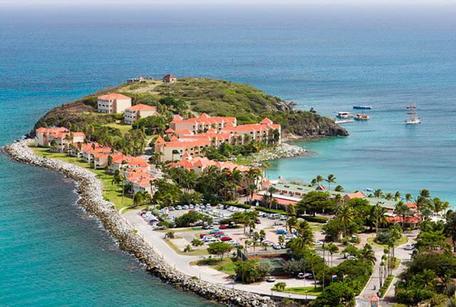 Hotel Saint Martin : vue aérienne Divi Little Bay Beach Resort