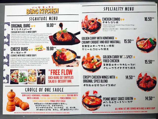 Eat at Seven: Burg Kitchen - Menu