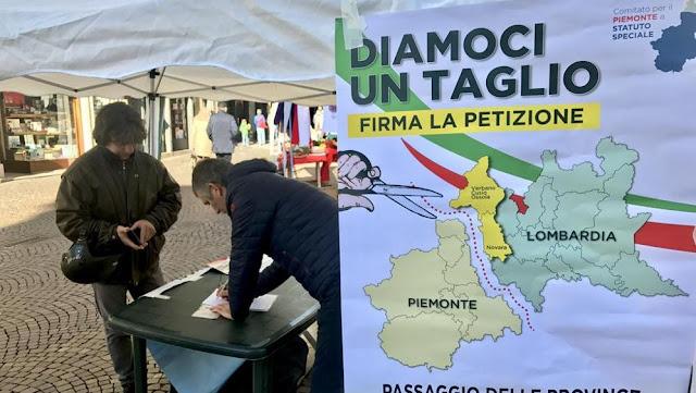 Referendum Provincia Vco dal Piemonte alla Lombardia