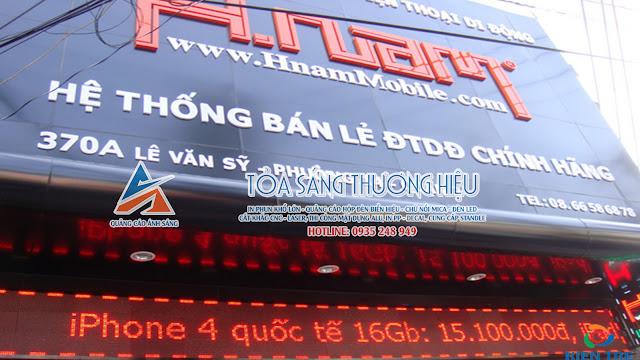 Làm bảng hiệu hộp đèn quận Tân Bình