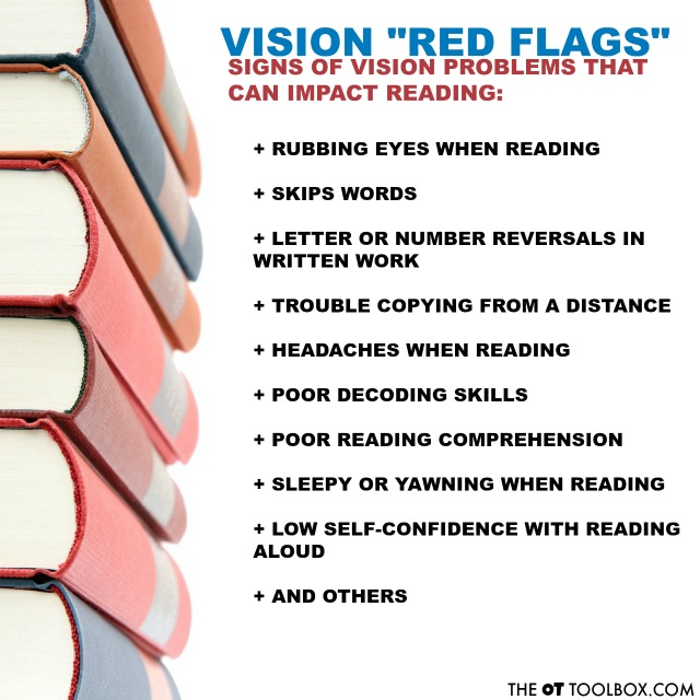Reading problems can be a result of visual skills such as convergence insufficiency.