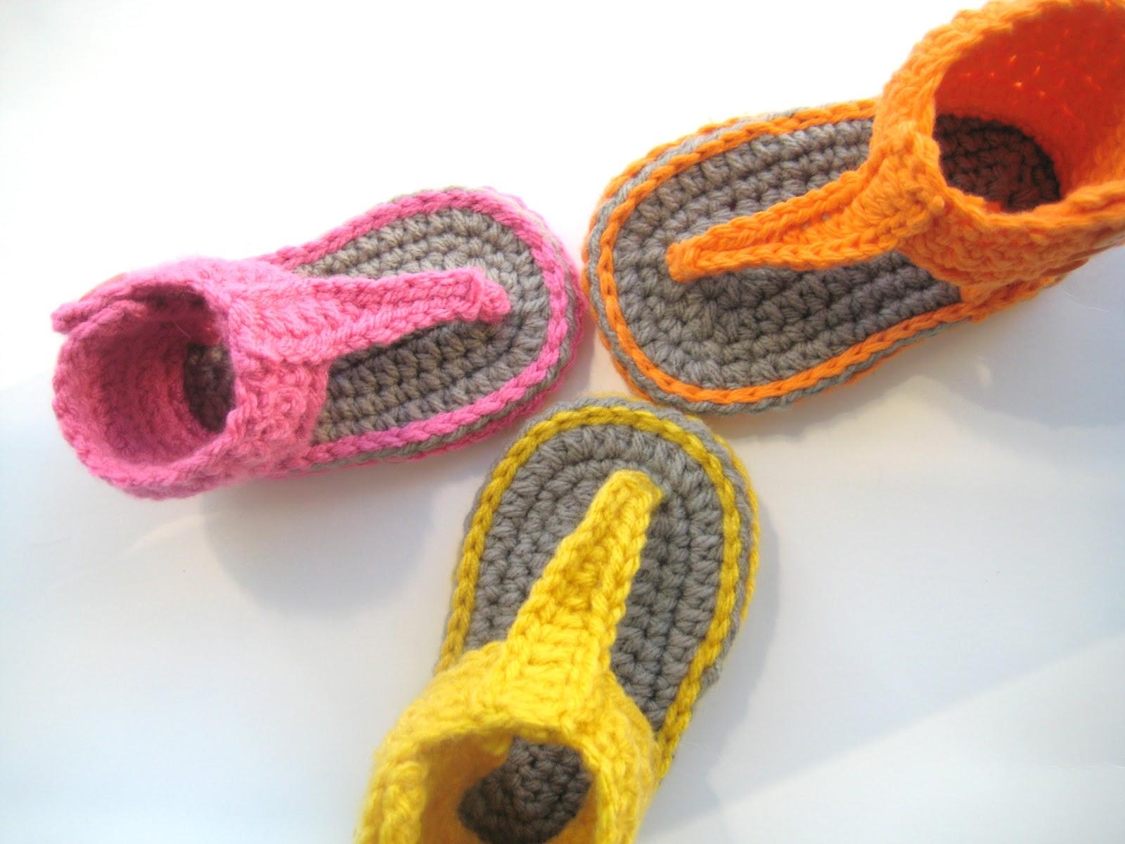 Free Baby Boy Crochet Sandals Pattern