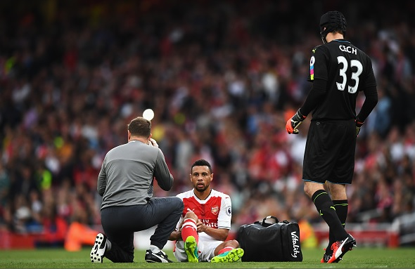 Arsenal midfielder Francis Coquelin out for three months