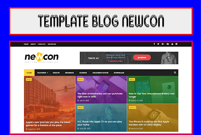 Newcon Blogger Template Free Download