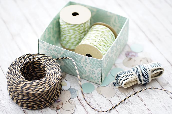 Origami Box   Schachtel falten   für Bänder und Schnüre