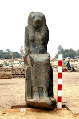 Statues of Sekhmet discovered in Luxor