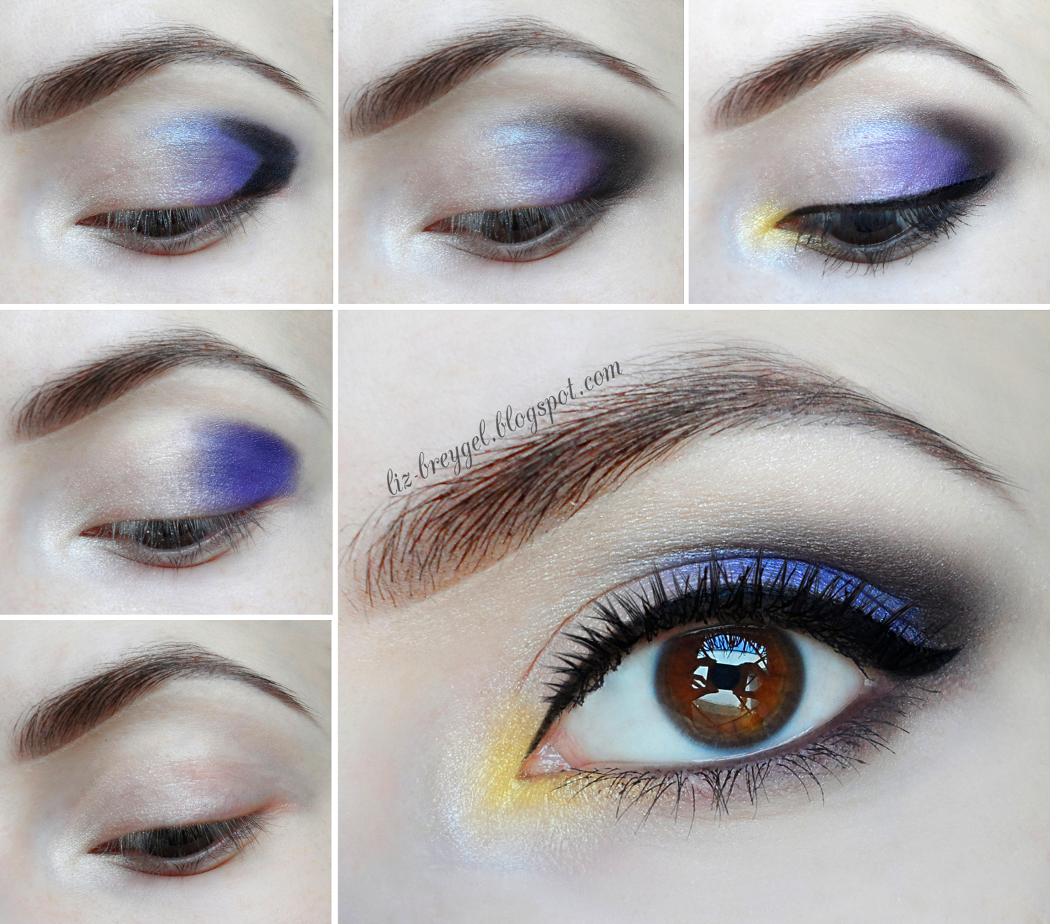 Christmas new year thanksgiving makeup tutorial party makeup lilac purple violet eye shadows
