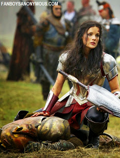 Thor 2 The Dark World Lady Sif battle field scene