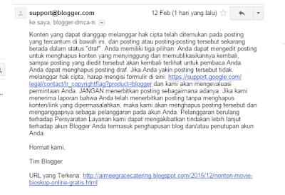 Google Blogger Digital Millenium Copyright Act