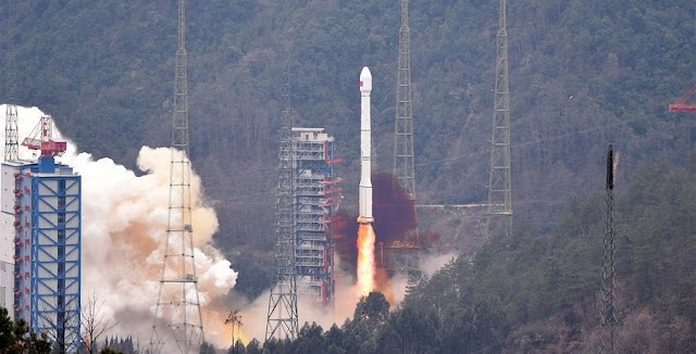 A Long March 3C carrier rocket carrying the 21st satellite for the BeiDou Navigation Satellite System lifts off from Xichang Satellite Launch Center, southwest China's Sichuan Province, Feb. 1, 2016. Photo Credit: Xinhua/Xue Yubin