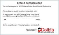 WAEC Result Checker Card 2016 & Beyond