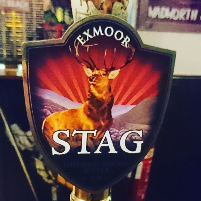 Somerset Craft Beer Review: Stag from Exmoor real ale pump clip