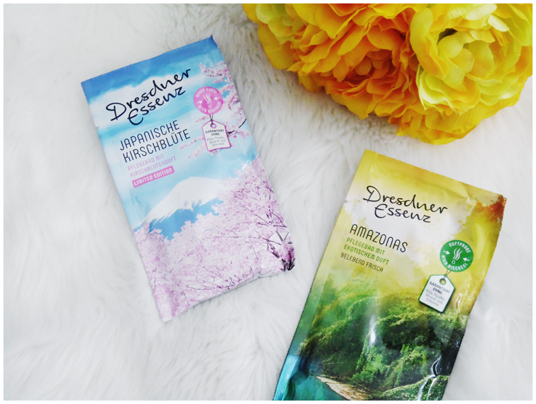 beauty | favorite five beauty products | april 2016 | dresdner essenz pflegebad amazonas & japanische kirschblüte | more details on my blog http://junegold.blogspot.de | life & style diary from hamburg | #beauty #dresdneressenz #bathcare