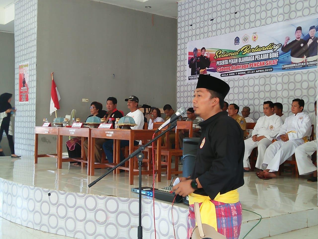 112 Pesilat Milenial Bertarung di Popda Bone, Ketua Panitia : Diharapkan Dapat Mencetak Pesilat Tangguh