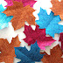 How to Make Glitter Leaves
