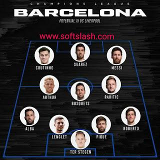 تشكيلة برشلونة المتوقعة ضد ليفربول على سوفت سلاش