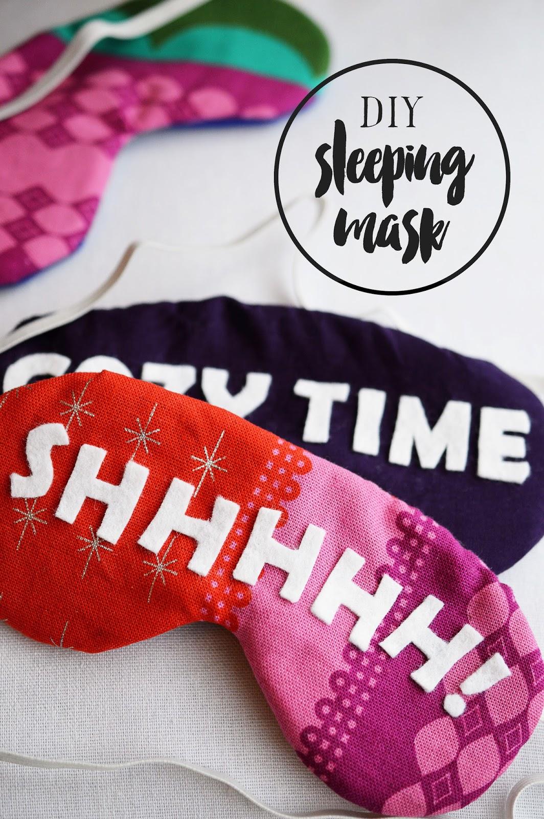 DIY Sleeping Mask | Motte's Blog