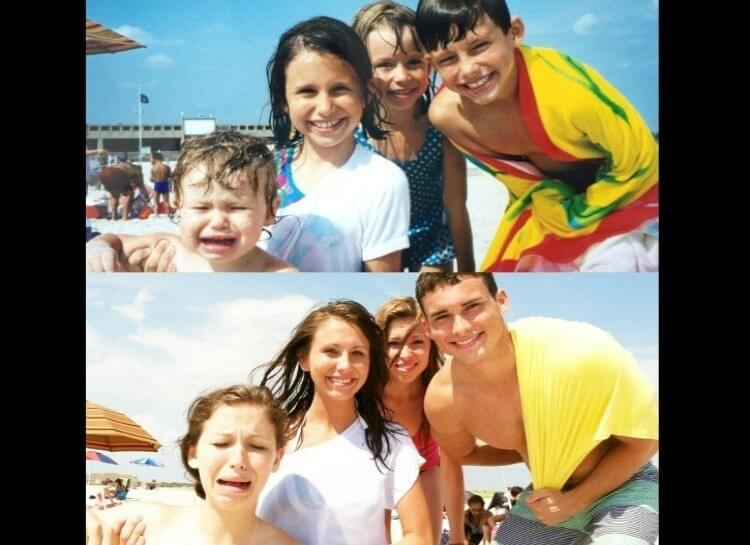 20 Hilarious Before And After Pictures Made By Adults Who Reminisced Their Childhood Years - Two epic days at the beach.