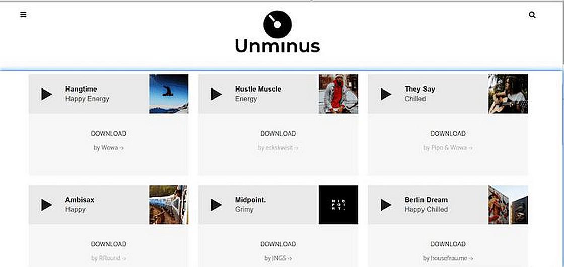 Unminus 免費音樂素材庫