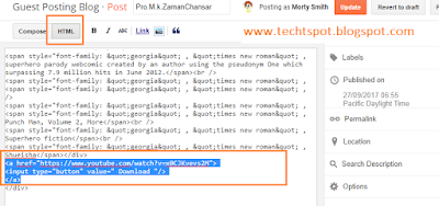 Create Download Button In Blogger 3