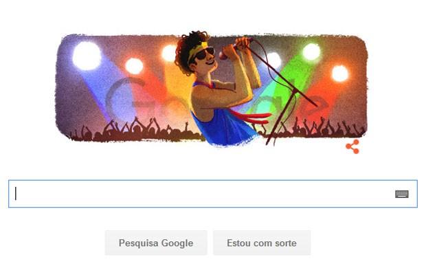 Aniversário de Cazuza é lembrado em doodle do Google