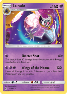 Lunala Guardians Rising Pokemon Card