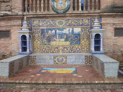 panca in plaza de Espana a siviglia