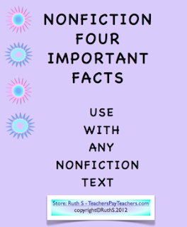 photo of nonfiction four main facts free PDF work page by Teacher Park