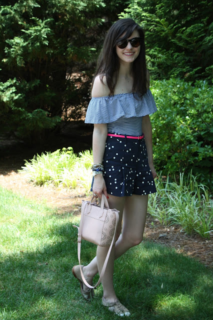 2017, summer, OOTD, how to wear, off-the-shoulder, J.Crew,