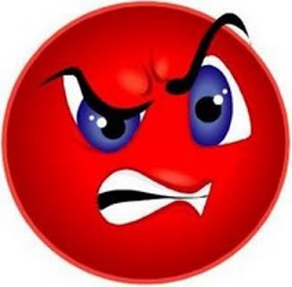 Red angriest smiley