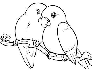 Love Bird Coloring Sheet Images Ideas