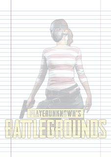 Folha Papel Pautado Battlegrounds modelo 9 PDF para imprimir folha A4