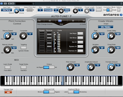 Auto-Tune 7 設定例 / Melodyneで直したあと、場合によって使うことがある