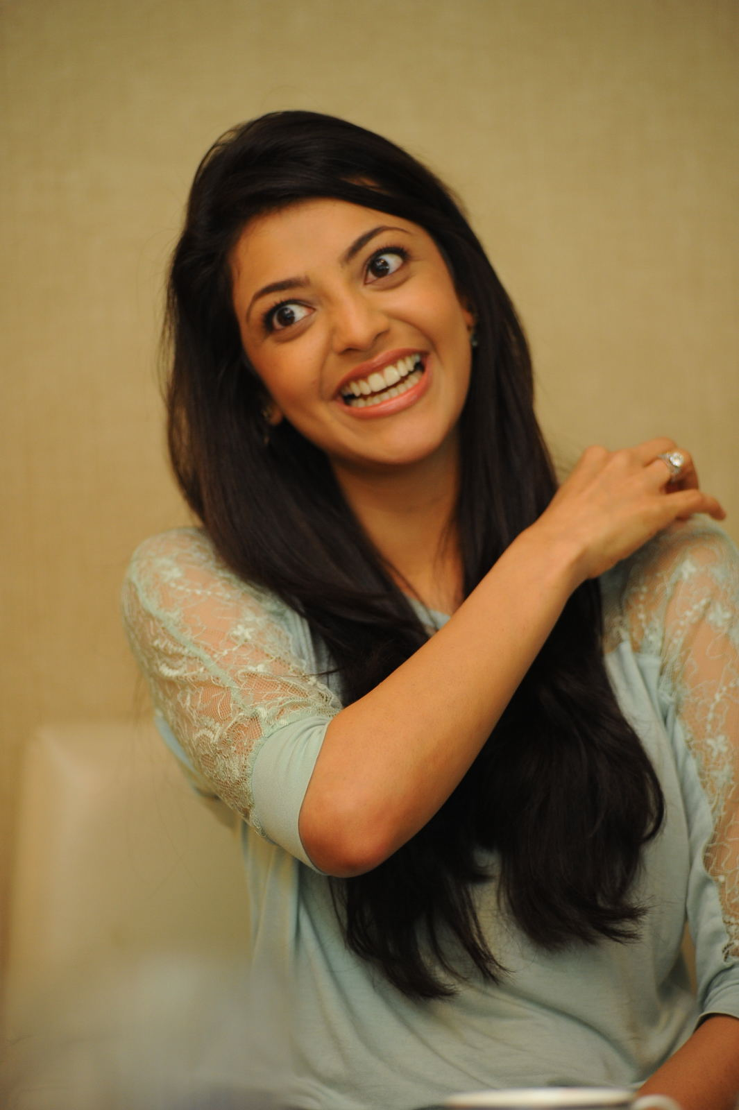Actress Kajal Agarwal Latest Photos In Blue Dress