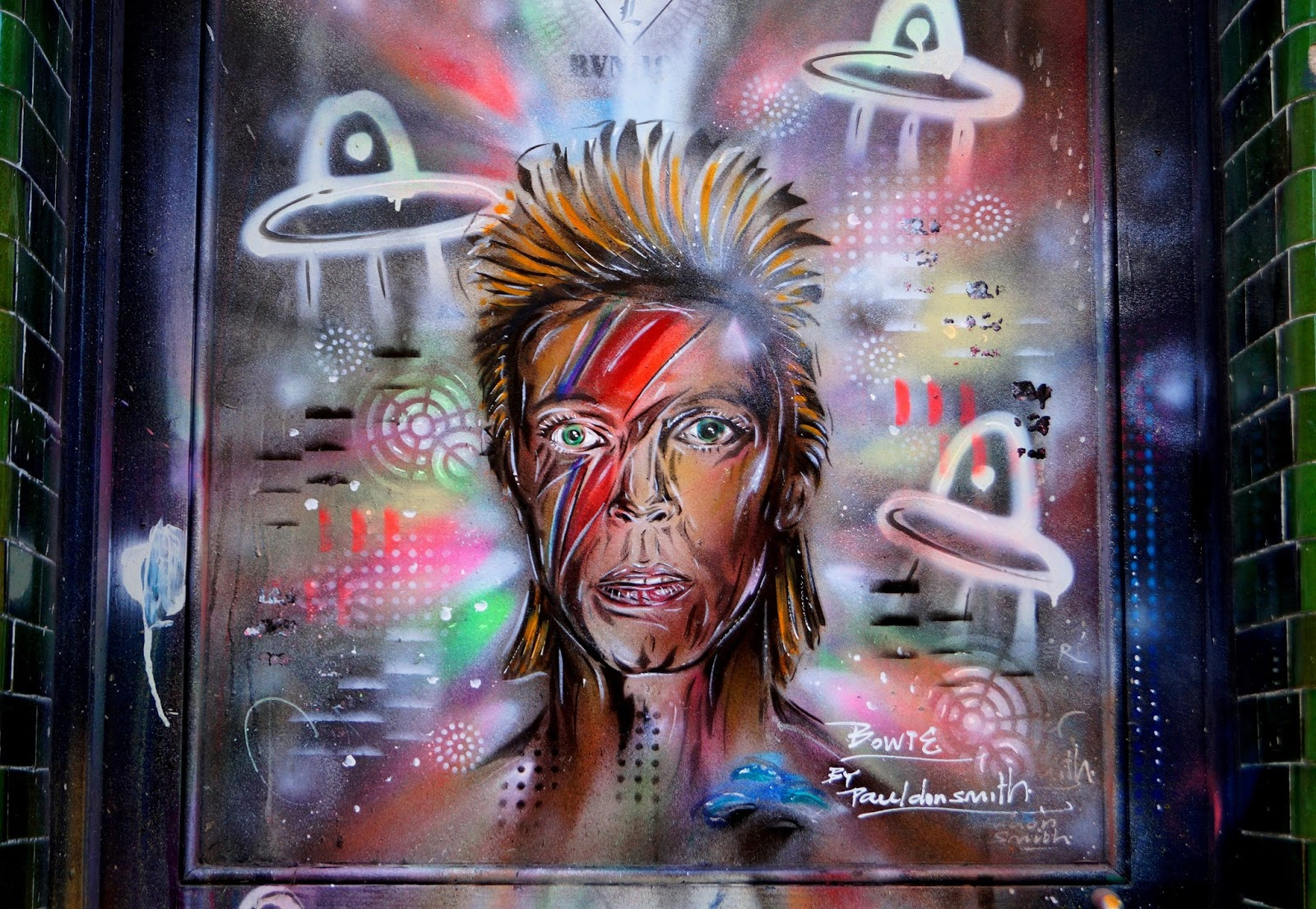 David Bowie mural London