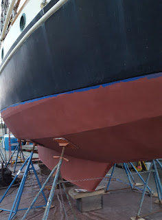 The same section of hull with a fresh coat of paint applied.