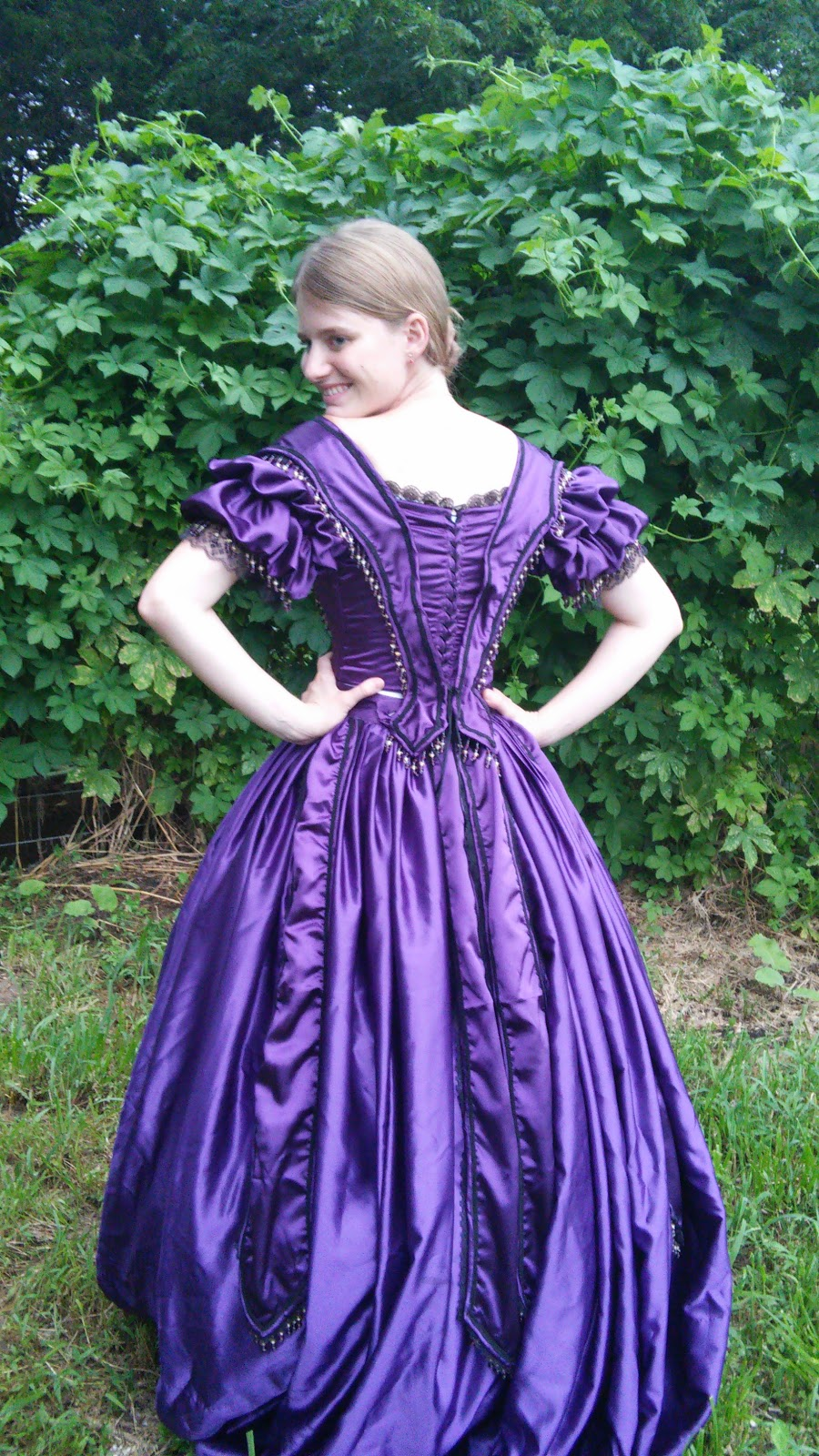 c6bacd9c2ec3d Now, I have been calling this dress a ball gown, and it certainly looks  like one to our modern eyes, but actually it's not. Ball gowns in the mid  19th ...