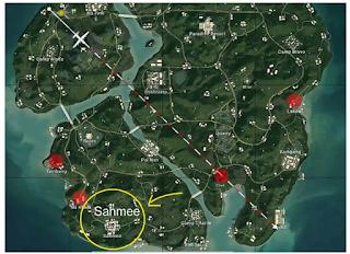 Sahmee pubg map | Dimana Lokasi Tempat Sahmee di PUBG Mobile berada