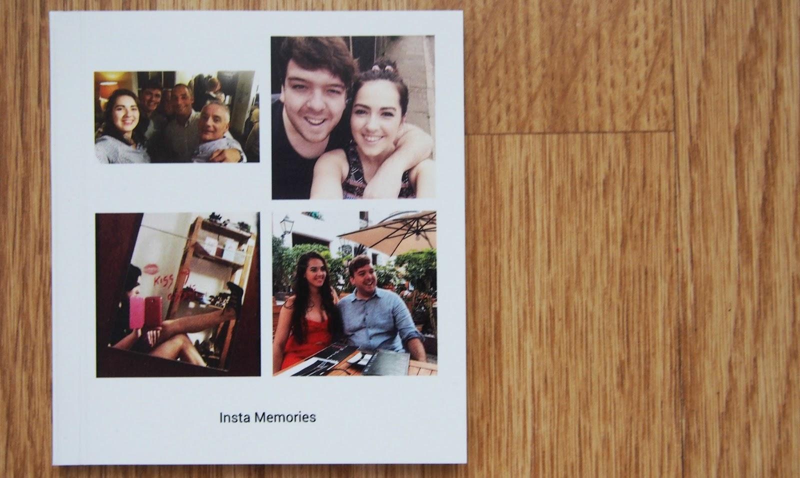 close up of photo book