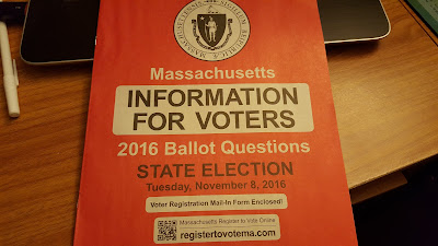 The MA voter information booklet should be arriving in your mailbox this week.